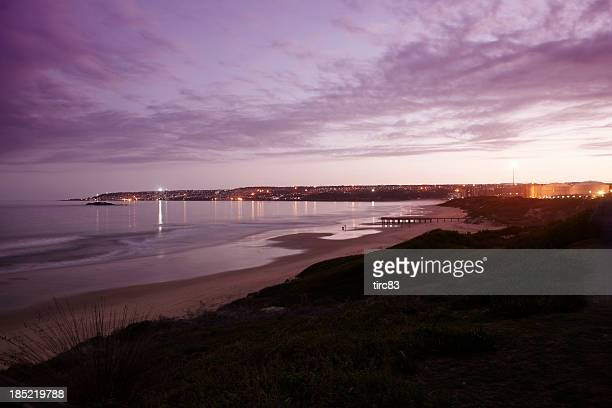 sunset beach and bay scene - mossel bay stock pictures, royalty-free photos & images