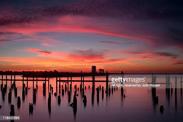 sunset beach - louisiana stock pictures, royalty-free photos & images