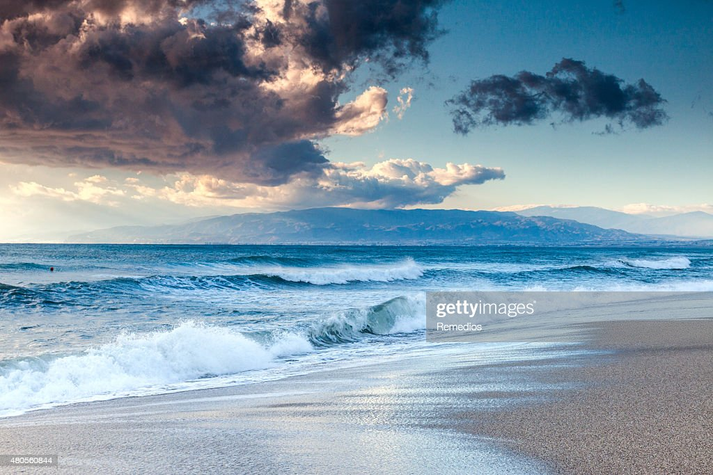 Sunset beach : Stock Photo