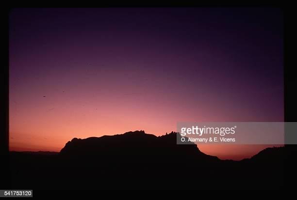 Sunset Behind Mountain, Spain