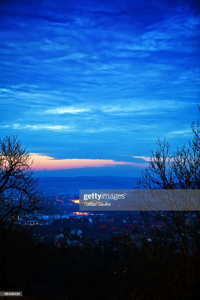 Sunset blue : Stock-Foto