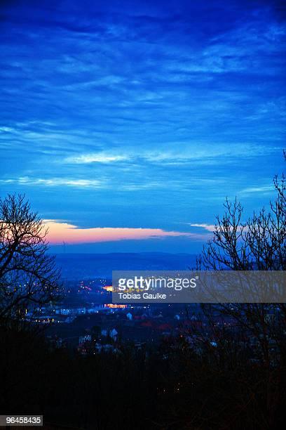 sunset blue - tobias gaulke stock-fotos und bilder