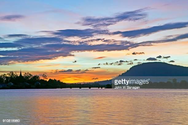 Sunset boat tours,  Kampot . Cambodia