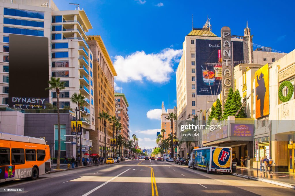 Sunset Boulevard - Hollywood in Los Angeles - USA : Stock Photo