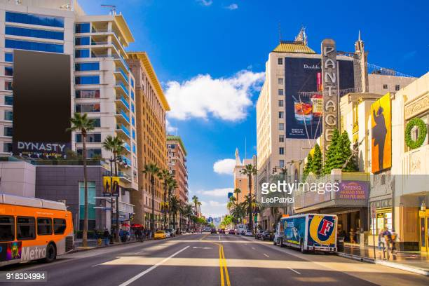 sunset boulevard - hollywood in los angeles - usa - hollywood california stock pictures, royalty-free photos & images
