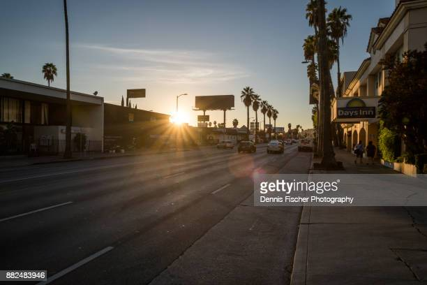 Sunset Boulevard Los Angeles during sunset