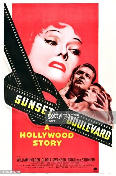 Sunset Boulevard poster Gloria Swanson William Holden Nancy Olson 1950