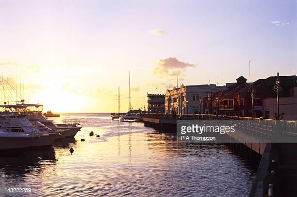 sunset, bridgetown, barbados, caribbean - bridgetown barbados stock pictures, royalty-free photos & images