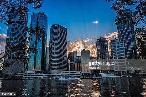 Sunset Brisbane city