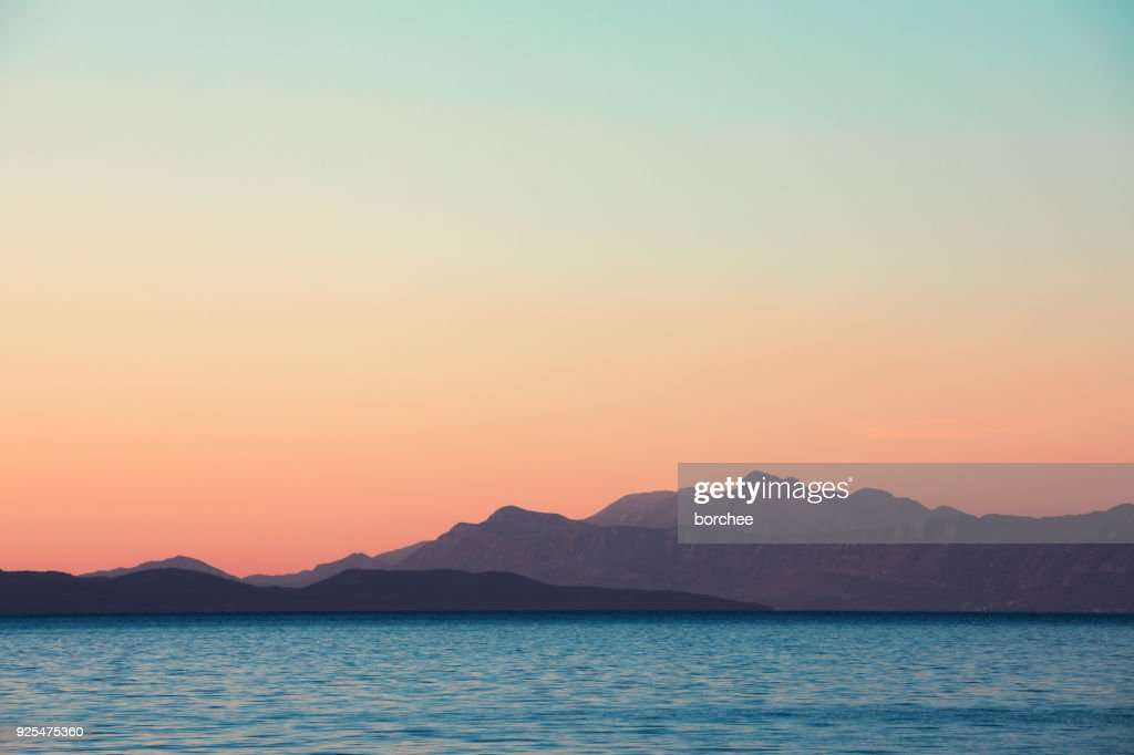 Sunset By The Sea : Stock Photo