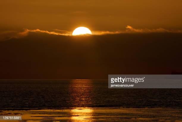 sunset sea tsawwassen delta bc canada