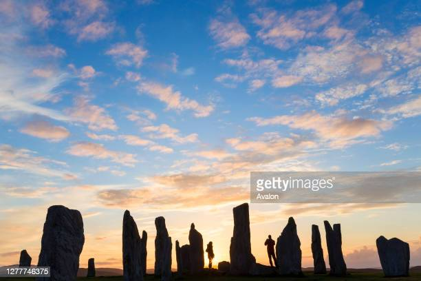 Sunset. Callanish Standing Stones. Isle of Lewis. Outer Hebrides. Scotland.