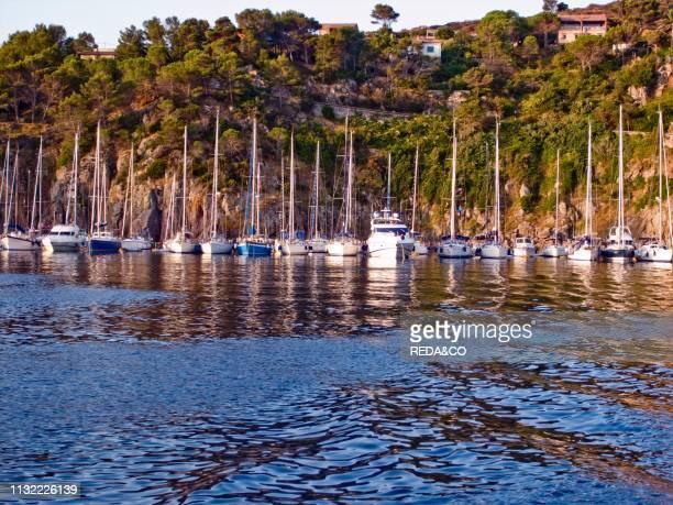 Sunset Capraia island Tuscany Italy Europe