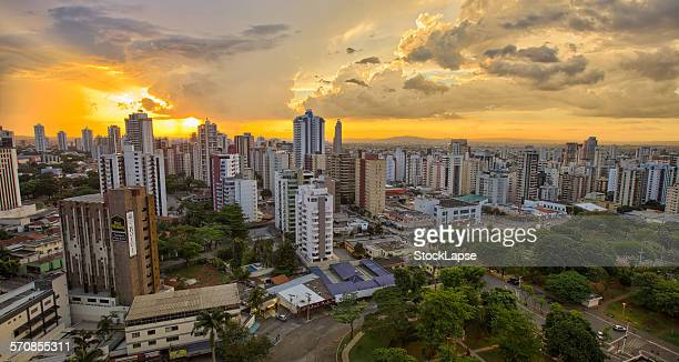 sunset city - goiania stock pictures, royalty-free photos & images