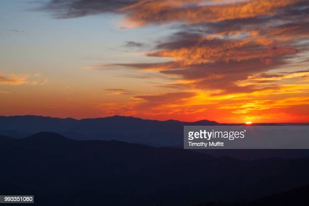 sunset clingman's dome - clingman's dome - fotografias e filmes do acervo