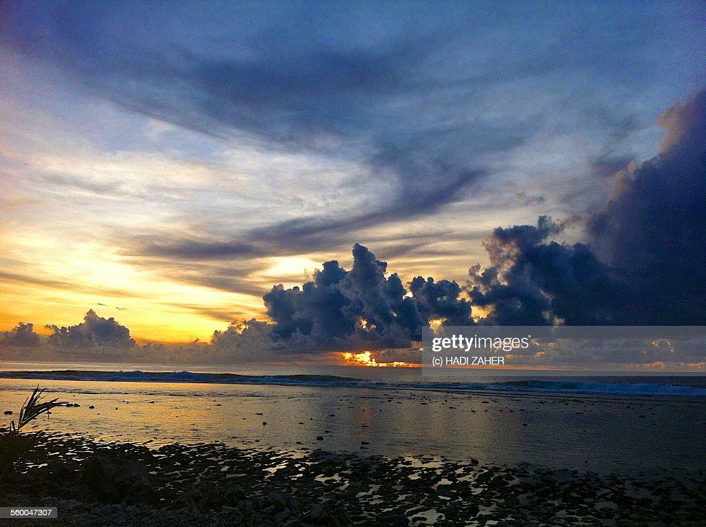 Sunset Clouds | Nauru | South Pacific : Stock Photo