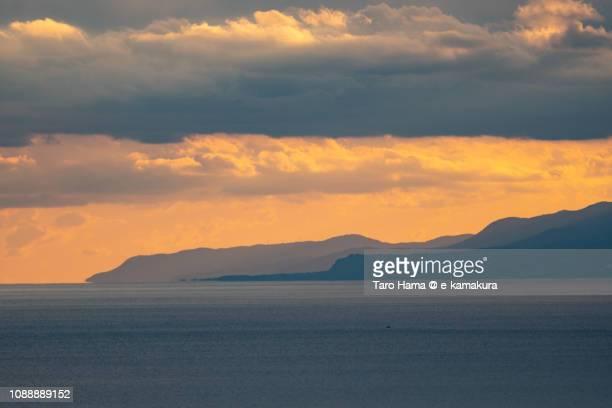 Sunset clouds on Izu Peninsula in Japan