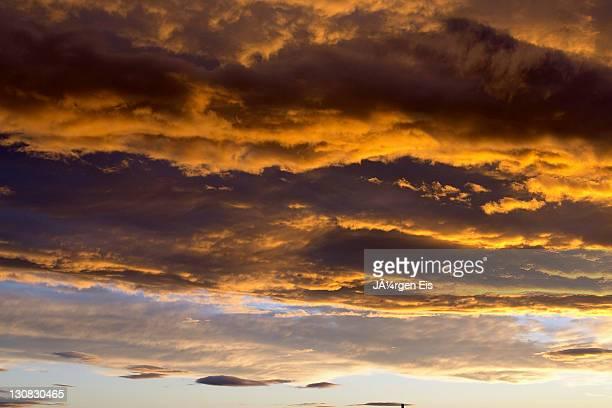 Sunset, clouds