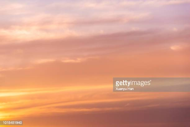sunset cloudscape - sky only stock pictures, royalty-free photos & images