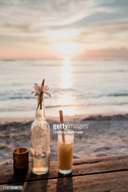 sunset cocktails - christine wehrmeier stock pictures, royalty-free photos & images