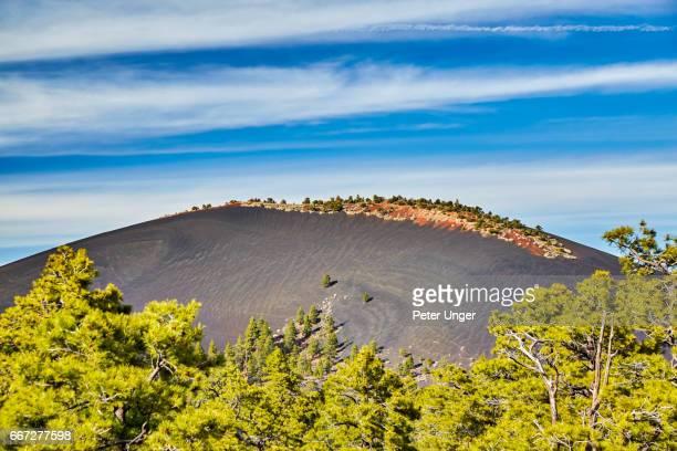 sunset crater volcano national monument, arizona,usa - flagstaff arizona stock pictures, royalty-free photos & images