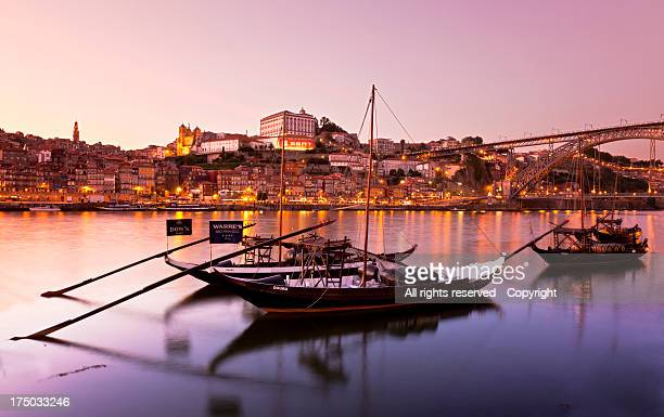 Sunset Douro river (Oporto)