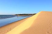 Sunset dune and Jericoacoara beach