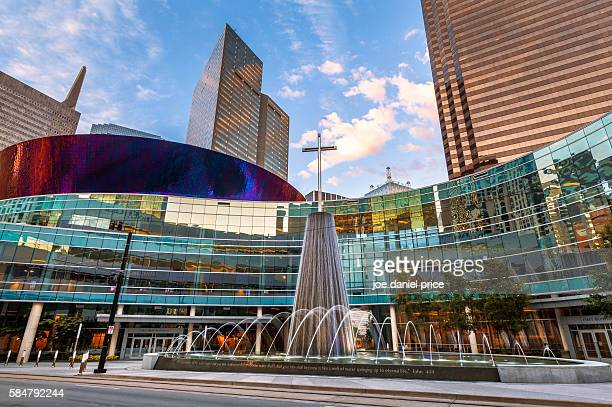Sunset, First Baptist Church, Downtown, Dallas, Texas, America