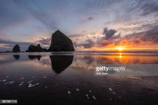 Sunset Flame at Haystack