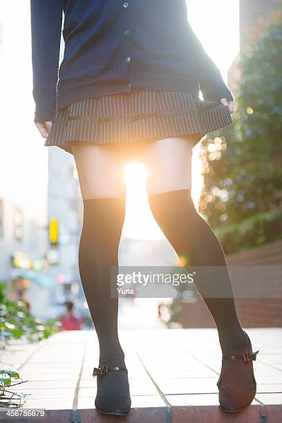 sunset flare - kneesock stock pictures, royalty-free photos & images