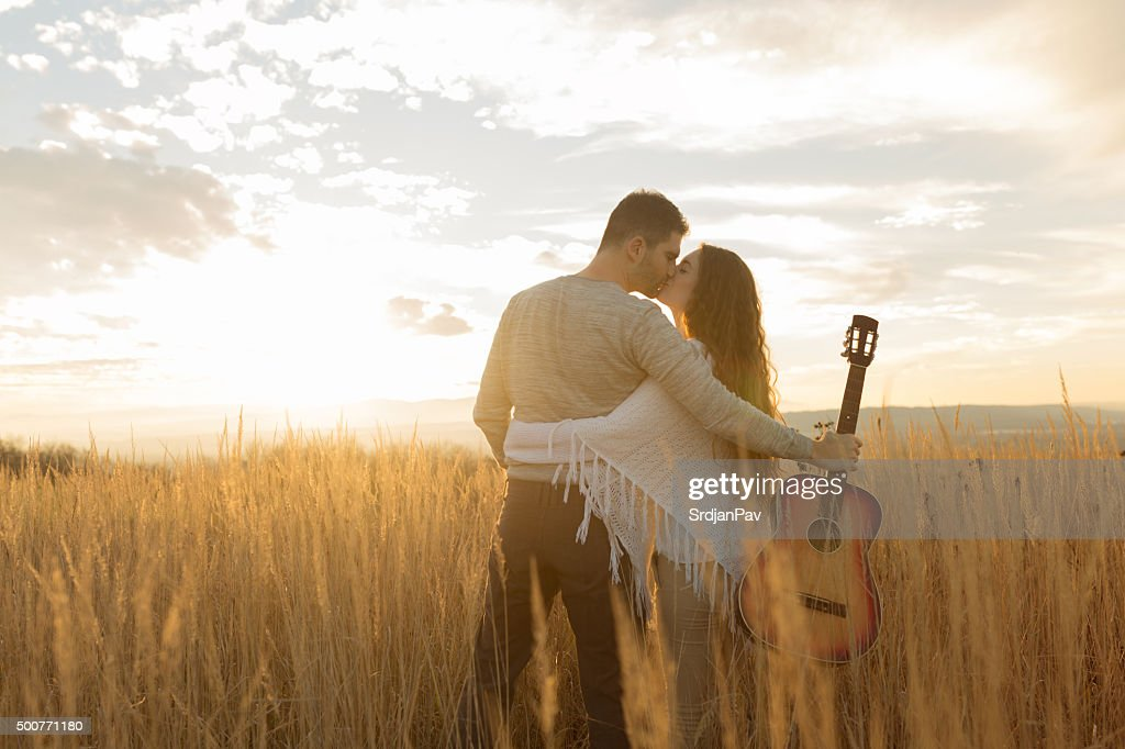 Sunset For Two : Stock Photo