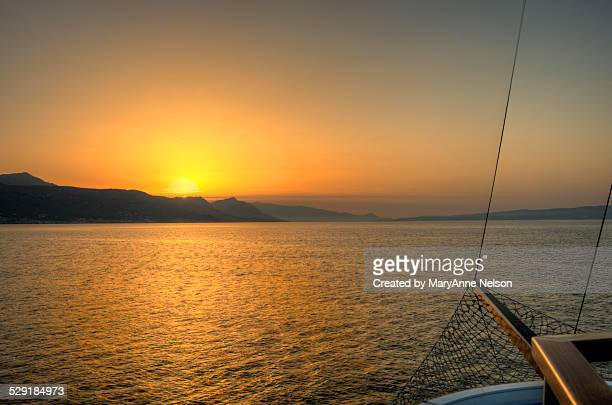 Sunset from a boat