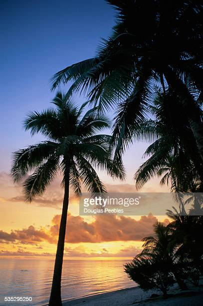 Sunset from a Rangiroa Atoll Beach