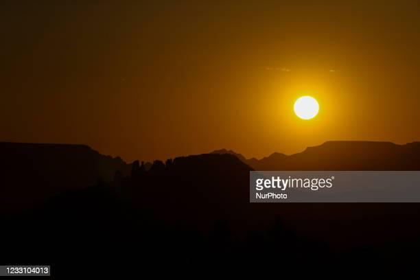 Sunset from Airport Mesa in Sedona, Arizona on May 18, 2021.