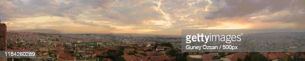 sunset from ankara castle - ankara turkey stock pictures, royalty-free photos & images