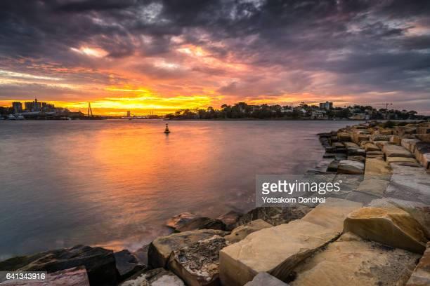 Sunset from Barangaro Reserve, Sydney