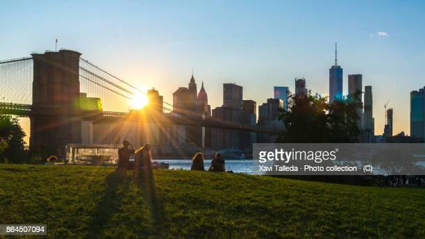 Sunset from Brooklyn Bridge Park