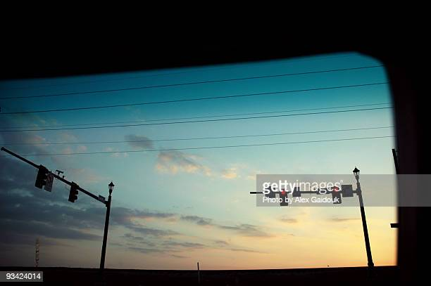 sunset from car - baton rouge stock pictures, royalty-free photos & images