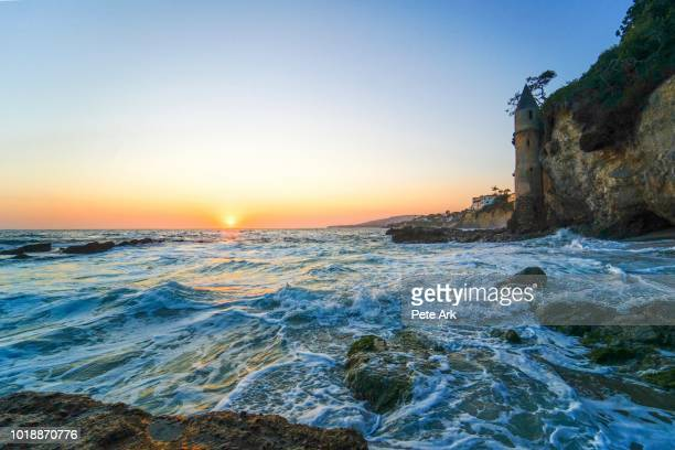 sunset from laguna beach - laguna beach california stock pictures, royalty-free photos & images