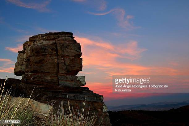 sunset from peaks of sierra de baza natural - fotógrafo stock photos and pictures