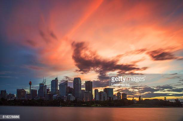 Sunset from Sydney.