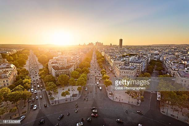 Sunset from the Arc de Triomphe