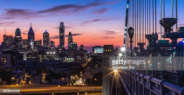 Sunset from the Ben Franklin Bridge