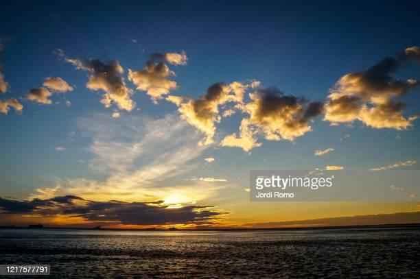 sunset from trieste - トリエステ ストックフォトと画像