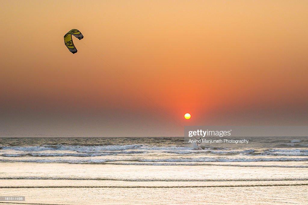 Sunset Goa beach : Stock Photo