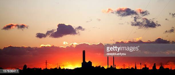sunset Hamburg Industrie
