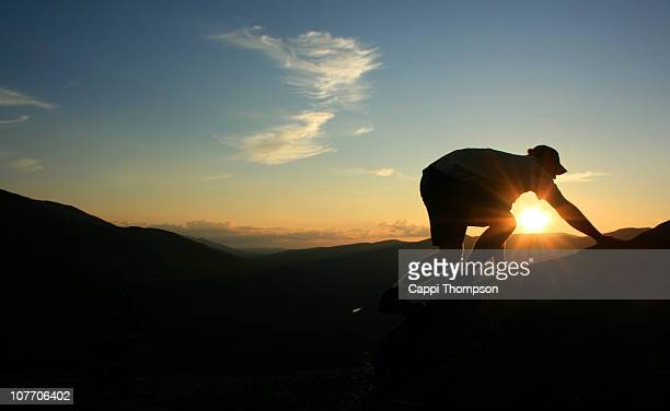 sunset hiking - cappi thompson stock pictures, royalty-free photos & images