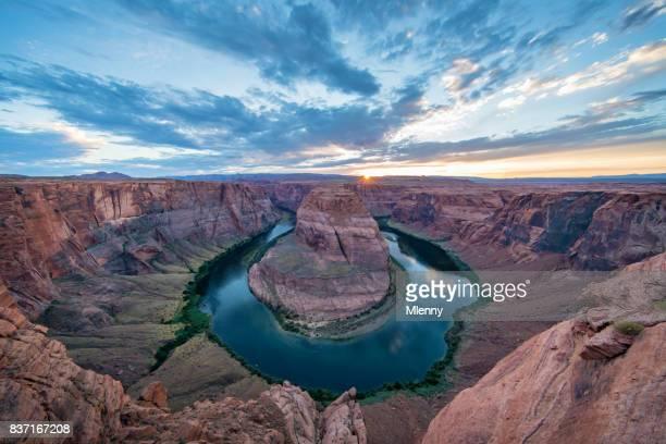 Sunset Horseshoe Bend Colorado River Arizona