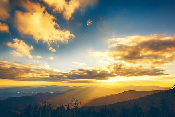 Sunset In A Mountain Landscape Wall Art