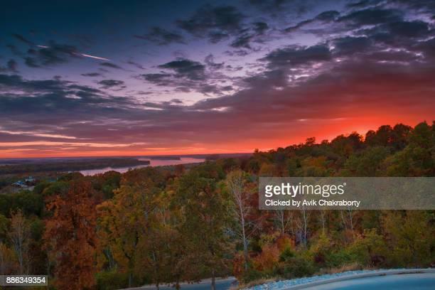 Sunset in Aries Winery Grafton, Illinois, USA